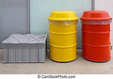 vaten, beschikking, gevaarlijk afval