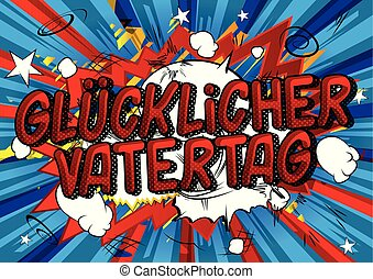 vatertag, glucklicher, german), dia, (father's