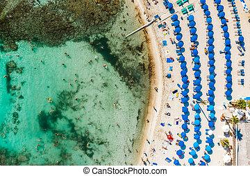 Vathia Gonia (Sandy bay) beach. Ayia Napa, Cyprus