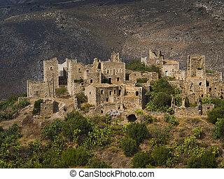 Vathia village, Peloponnese, Greece - Vathia, abandoned ...