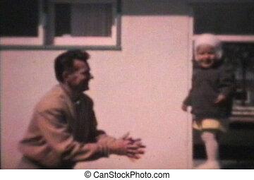 vati, junge, wenig, seine, (1963), sprünge