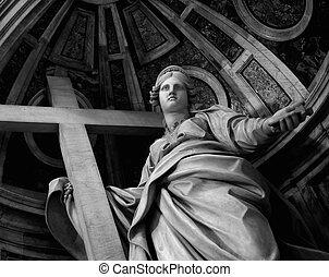 (vatican), basílica, peter, s., estatua