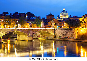 Vatican City at dusk