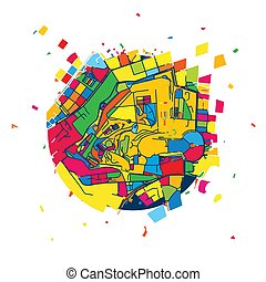 Vatican City Creative Vector Map