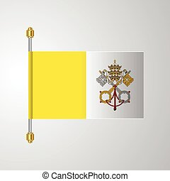 Vatican City Holy See hanging Flag
