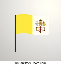 Vatican City Holy See waving Flag