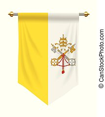 Vatican City Pennant - Vatican City flag or pennant isolated...