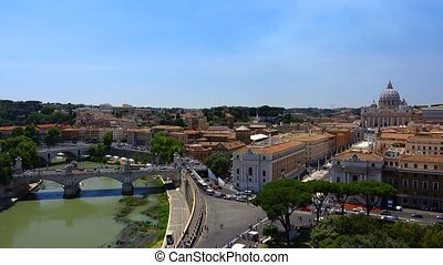 Vatican City State 2017-06-07: Panoramic view of St. Peter's...