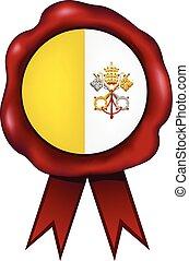 Vatican City Wax Seal - Vatican City wax seal.
