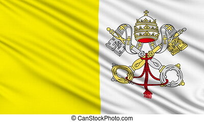 Vatican Flag, with real structure of a fabric
