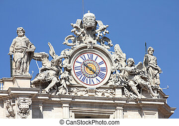 Vatican - Holy See in Rome, Italy. Famous St. Peter's ...