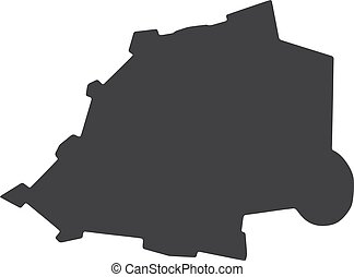 Vatican map in black on a white background. Vector illustration