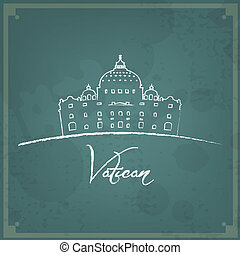 Vatican Retro Background - Abstract vintage background....