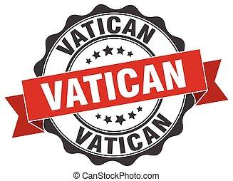 Vatican round ribbon seal