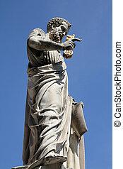 Vatican - Saint Peter sculpture at Saint Peter's Square