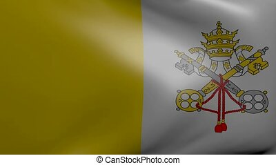 vatican strong wind flag
