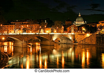 Vatican view at night.