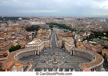 Vatican View - View from the dome of St. Peters