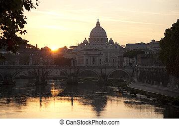 vaticano, c/, italia, peter, iglesia, roma