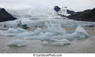 Vatnajokull glacier, Iceland - Vatnajokull glacier, also...