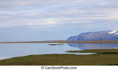 Vatnajokull glacier in Iceland - Panoramic view of...