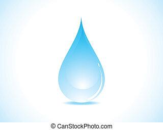 vatten, abstrakt, droppe