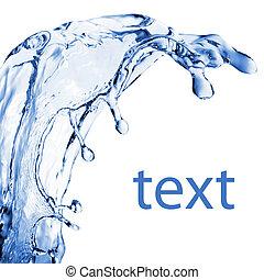 vatten, abstrakt, plaska, isolerat, vit