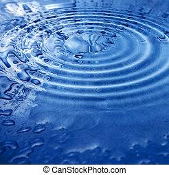 vatten, abstrakt, worl