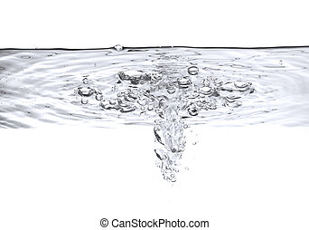 vatten, bubblar, luft
