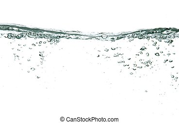 vatten, bubblar