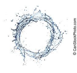 vatten, cirkel, plaska