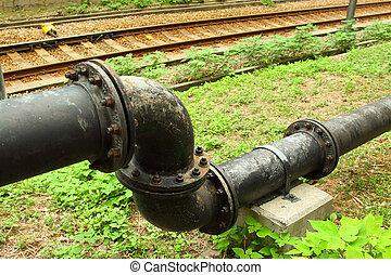vatten, close-up., pipeliner