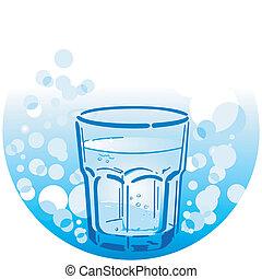 vatten, drickande, ren