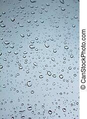 vatten, droppar, glas