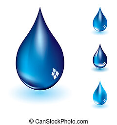 vatten droppe, fyra