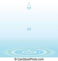 vatten droppe, och, krusning, bakgrund