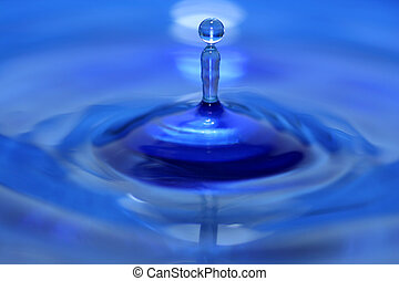 vatten droppe, plaska