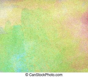 vatten färga, på, gammal, papper, struktur, bakgrund