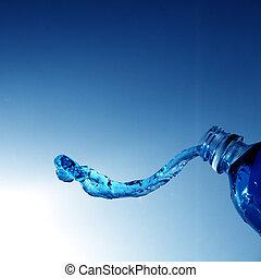 vatten, flytande