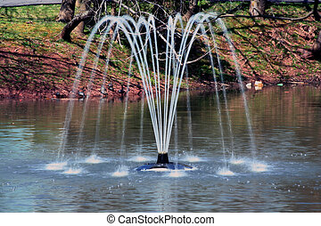 vatten fontän