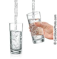 vatten, fyllande
