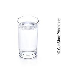 vatten glas, vit, isolerat