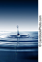 vatten gnutta, plaska