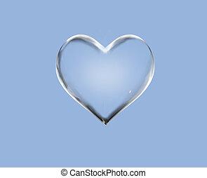 vatten, hjärta