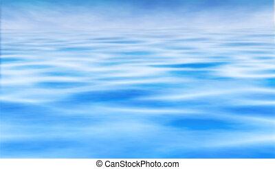 vatten, horisont
