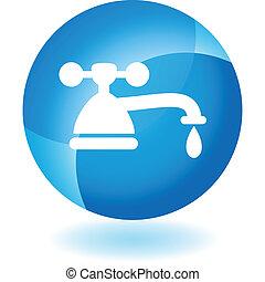 vatten kran, droppa