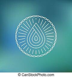 vatten, logo, vektor, mall