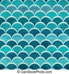 vatten mönstra, cirkel, seamless