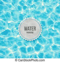vatten, paradis