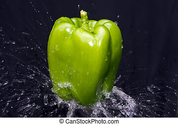 vatten, peppar, plaska